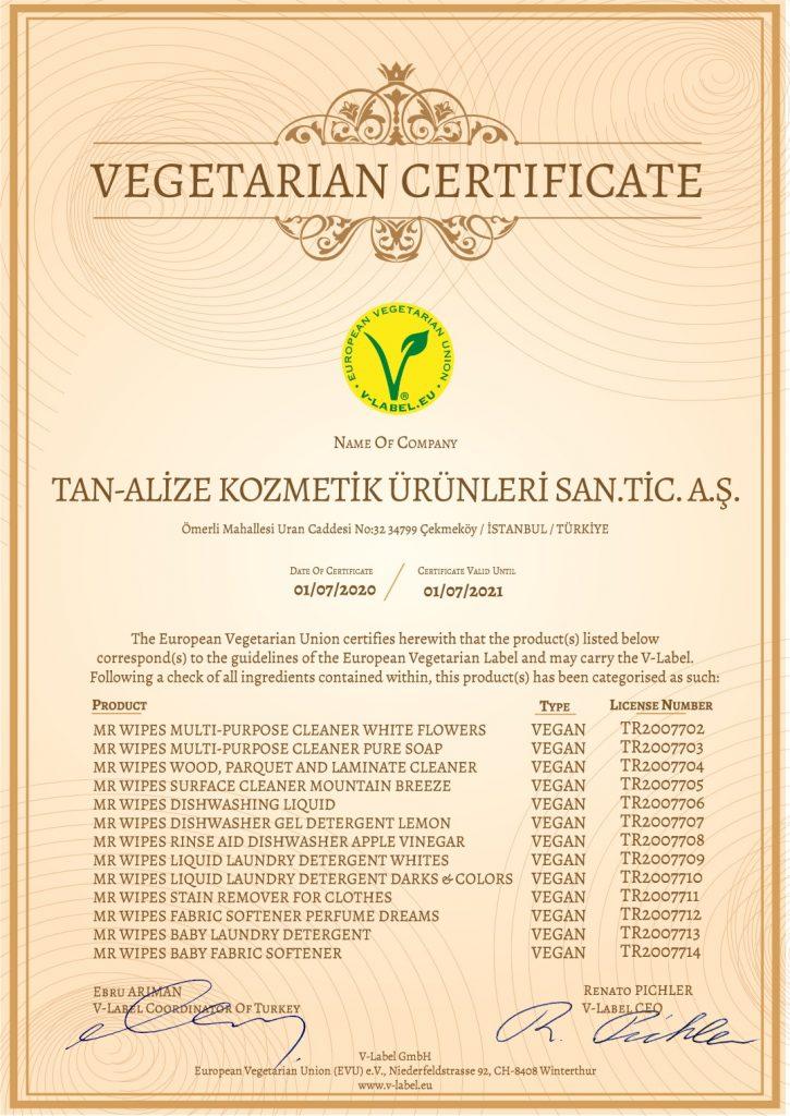 Cертификат-Vegetarian